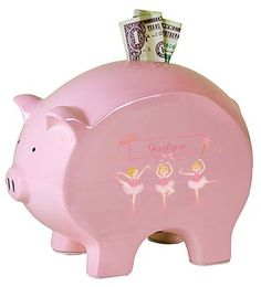 My Bambino Pink Piggy Bank - Blonde Ballerina