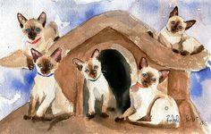 T i t l e : Carols Kittens    M e d i u m : Print of a Watercolor    M e d i u m : Print, Digital, or Giclée    D i m e n s i o n s: Variety    S p