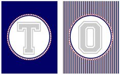 FREE TOUCHDOWN BANNER Football Printables from 9 to 5 Mom for your Super Bowl Party