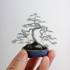Wire Bonsai Tree Sculpture