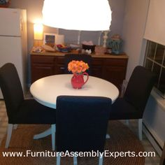 ikea dining table and chairs assembled in germantown MD by Furniture assembly Experts LLC - call (202) 787-1978