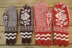 Ravelry: Vantar med rosmönster pattern by Sylvia Olsson -- Free Pattern Knitting Charts, Loom Knitting, Knitting Socks, Knitting Patterns Free, Free Knitting, Crochet Patterns, Free Pattern, Knitting Ideas, Mittens Pattern