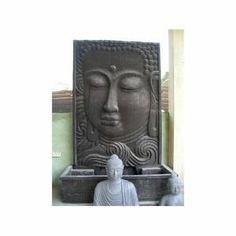 Grande Fontaine de jardin mur d'eau visage de Bouddha 2m 10 noir brun…