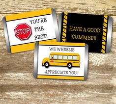 Mini Candy Bar Wrapper - Bus Driver Appreciation, Bus Driver Thank You, Bus…