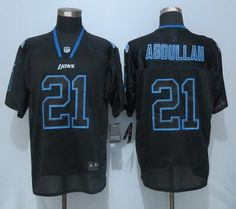 Wholesale NFL Jerseys cheap - Nike Detroit Lions #81 Calvin Johnson Light Blue/White Fadeaway ...