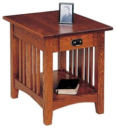 Craftsman End Table Mission Slat By Homestead Furniture Made In Amish Country Tables Pinterest Homesteads And