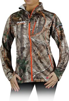 FXR Women's Elevation Camo Full-Zip Fleece $94.99 #Camo #Snowmobile #FXR