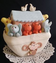 Noah's Ark Cake Topper Great for baby showers and Birthday decorations Black and White background is not included is only for sample. You are buying One Ark as on the Picture As shown on picture shown