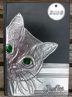 Pewter cat diary cover by Pewter Concepts