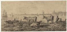 Gezicht op de Riedijkse Poort te Dordrecht — Teylers Museum