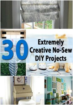 30 extremely creative no-sew diy projects - diy & crafts Diy And Crafts Sewing, Diy Sewing Projects, Craft Tutorials, Crafts To Sell, Diy Crafts, Craft Projects, Burlap Crafts, Sewing Hacks, Sewing Ideas