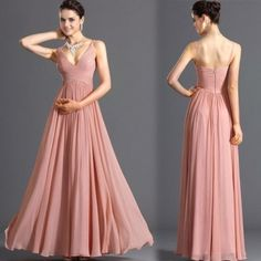 Stylish Lady Women's New Fashion Sexy Sleeveless Backless Deep V-neck Party Ball Prom Gown Long Dress