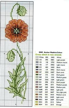 marque page pts cpts Cross Stitch Books, Cross Stitch Bookmarks, Just Cross Stitch, Cross Stitch Needles, Cross Stitch Flowers, Cross Stitch Charts, Cross Stitch Designs, Cross Stitch Patterns, Loom Patterns
