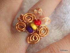 DIY Beading Club Tutorial - Woven Butterfly Ring Wirework Tutorial T88