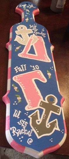 Handpainted Sorority Paddles for sale at my Etsy site!