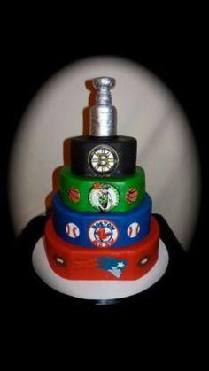 Boston Fan Red Sox Cake Sports Birthday Party Basketball
