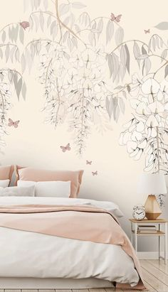 Home Decor Styles, Cheap Home Decor, Home Decor Accessories, Bedroom Murals, Wall Murals, Bedroom Decor, Perfect Wallpaper, Wallpaper For Walls, Bird Wallpaper Bedroom