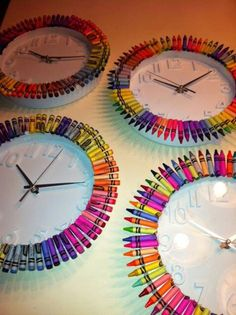 This is a really cool activity that helps a person attach the colorful to the mundane and everyday. Something like a clock can be spiced up with a personal touch like crayons. Needed for this would be a big box as well as a clock along which you could decorate. Simply put the crayons along the edges so you can still see the hour and minutes. Attach with glue/tape or however else you see fit!