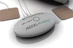 Accel-Heal is a stand alone sealed medical device. Each unit provides 48 hours of treatment.