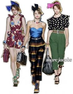 2524cfade6 Designer work inspired by fashion: Marc Jacobs incorporate many fashion  styles into his collections. He designed bright colored clothing,  headbands, ...