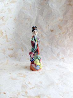 Vintage Ceramic Figurine of Female in Robe Made by LyricalVintage