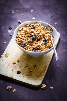Granola with raisins by The baking man on Creative Market
