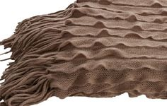 Throw rug winter warmer fawn with fringing durable acrylic home decor fashion A