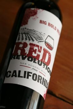 Our wine.. Great memories .. of  perfect days in bed xox Red Revolution - California