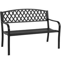 "Amazon.com : Best Choice Products 50"" Patio Garden Bench Park Yard Outdoor Furniture Steel Frame Porch Chair Seat : Patio, Lawn & Garden"