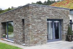 Aluclad Windows & Doors Installation by Youghal Glass, Aluclad sliding doors, French doors & bi-fold doors, fixed panoramic windows, timber entrance doors Entrance Doors, Garage Doors, Stunning View, Sliding Doors, French Doors, Exterior Design, Windows, Building, Glass