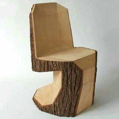 Log chair