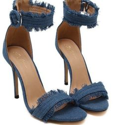 2e9a3f1ac2ac Denim High Heels Women s Pumps