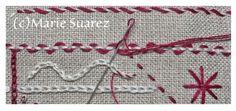 Brodez Avec Moi de Marie Suarez/ Etapa 4 Mais Marie Suarez, Stitch Games, Diy Hacks, Couture, Embroidery, Knitting, Smocks, Barrette, Stitches