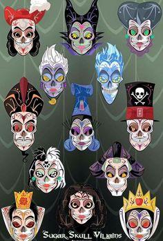 Disney Villain Sugar Skulls