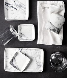 marble kitchenware from H&M home. BEAUTIFUL!