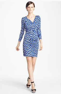Like the one at the ts???  Diane von Furstenberg 'Bentley' Print Ruched Silk Dress available at #Nordstrom