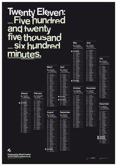 mash calendar 2011 poster by mash creative