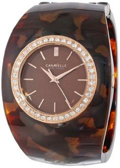 Caravelle New York Womens 44L140 Analog Display Japanese Quartz Brown Watch *** Click on the image for additional details.