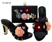 Latest Fashion African Party Shoes 3D Flower Italian Shoes Matching Bag Set for Women https://app.alibaba.com/dynamiclink?touchId=60749997665