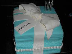 Tiffany's Birthday Party Cake #tiffany #cake