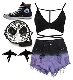"""""""TATIANNA"""" by briannaplacko ❤ liked on Polyvore featuring Evil Twin, Converse and olgafacesrok"""