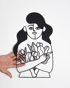 Ilustración en papel cortado a mano con bisturí. Tamaño A3. La ilustración se envía adherida a una cartulina con dos pequeños trozos de cinta de...