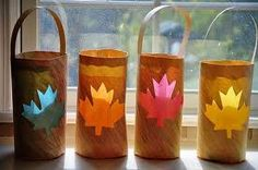 Use the leaf idea and add the letters FALL (one letter for each bag) to add something special to this project. Great Fall Crafts for Kids - So You Think You're Crafty Autumn Crafts, Fall Crafts For Kids, Autumn Art, Thanksgiving Crafts, Autumn Theme, Holiday Crafts, Kids Crafts, Leaf Crafts, Quick Crafts