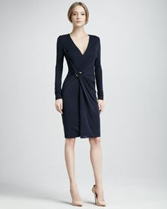 T5E5Y Halston Heritage Jersey Wrap Dress