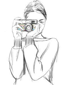 Было бы не плохо наприсовать девушку в толстовке или глубокой одежде с фотоаппаратом