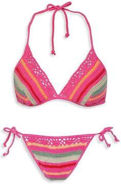 Inspiração: biquíni de crochê | CUSTOMIZANDO.NET - Blog de customização de roupas, moda, decoração e artesanato por Mariely Del Rey