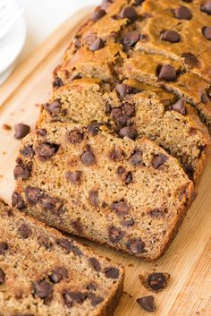 Healthy Banana Bread with Chocolate ChipsReally nice recipes. Mein Blog: Alles rund um die Themen Genuss & Geschmack Kochen Backen Braten Vorspeisen Hauptgerichte und Desserts