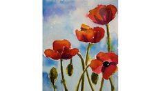 Watercolor: Poppies Tutorial - YouTube