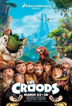 The Croods is one of those rare family films that is actually about a family. Like so many of these animated flicks, the plot is supposedly about slapstick humor but is actually about the erosion of father figure Grugs (Nicolas Cage) authority as leader of the family unit. Throw in a burgeoning romance between his eldest daughter Eep (Emma Stone) with stranger Guy (Ryan Reynolds) and you have…well you have the exact same plot of Hotel Transylvania. Only better.