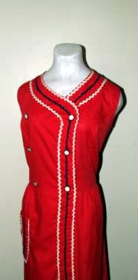 Adorable Kitsch 1940's/50's Cotton Ric Rac Day by BeauMondeVintage, $48.00